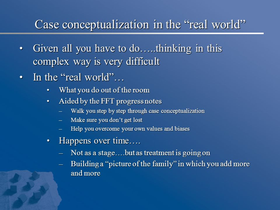 Case conceptualization in the real world