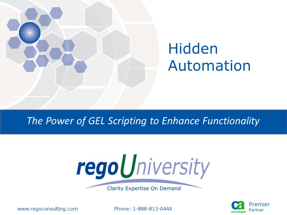 The Power of GEL Scripting to Enhance Functionality