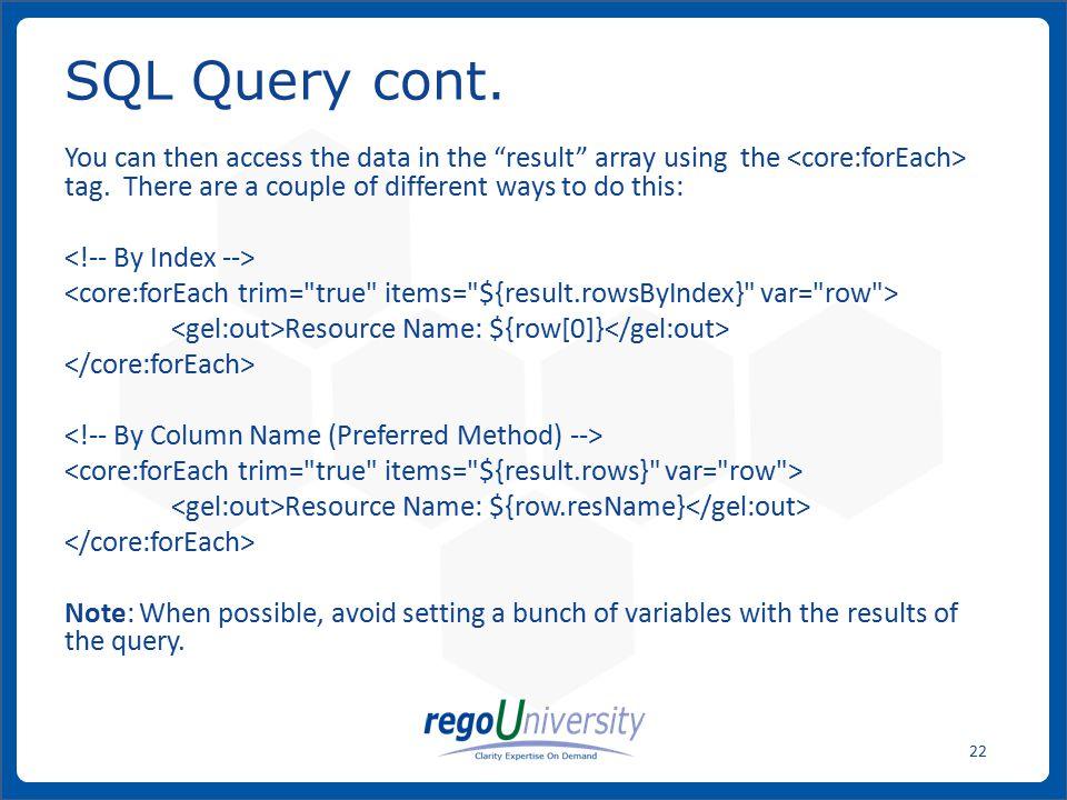 SQL Query cont.