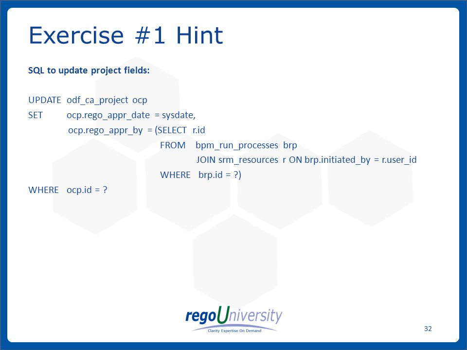 Exercise #1 Hint