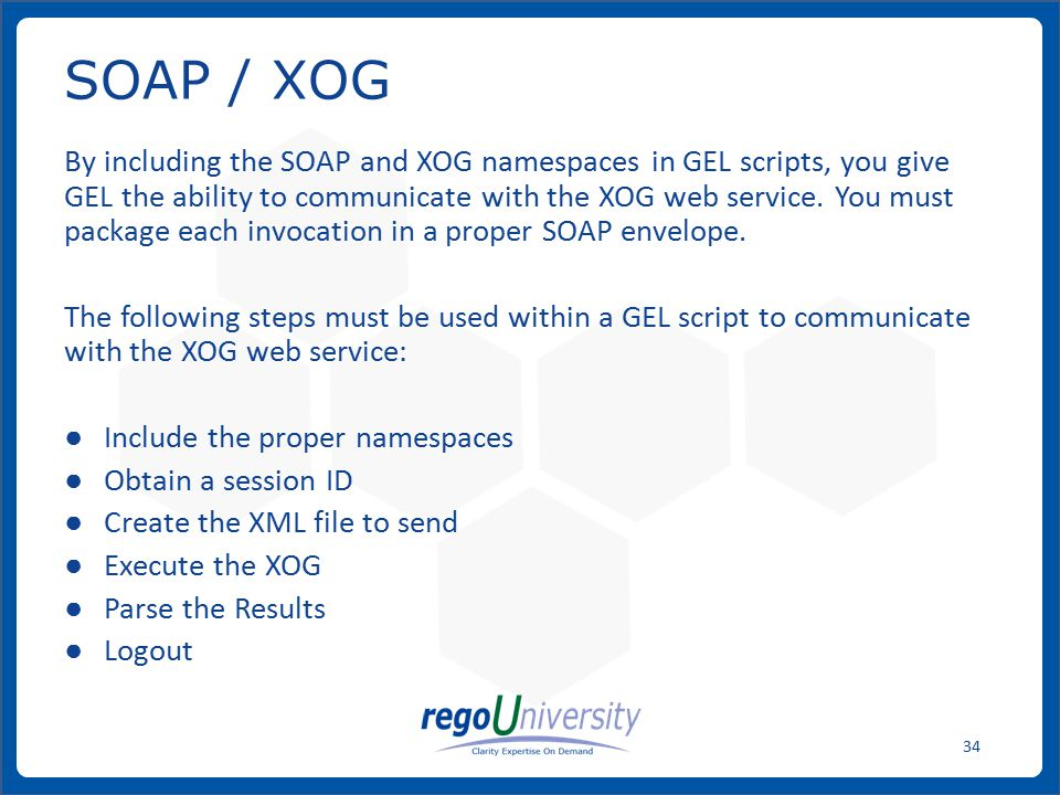 SOAP / XOG
