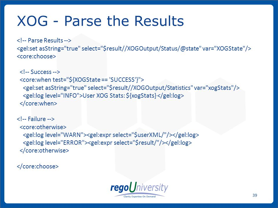 XOG - Parse the Results