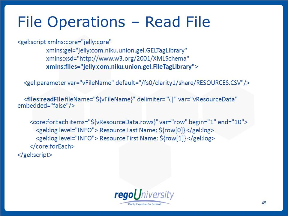 File Operations – Read File