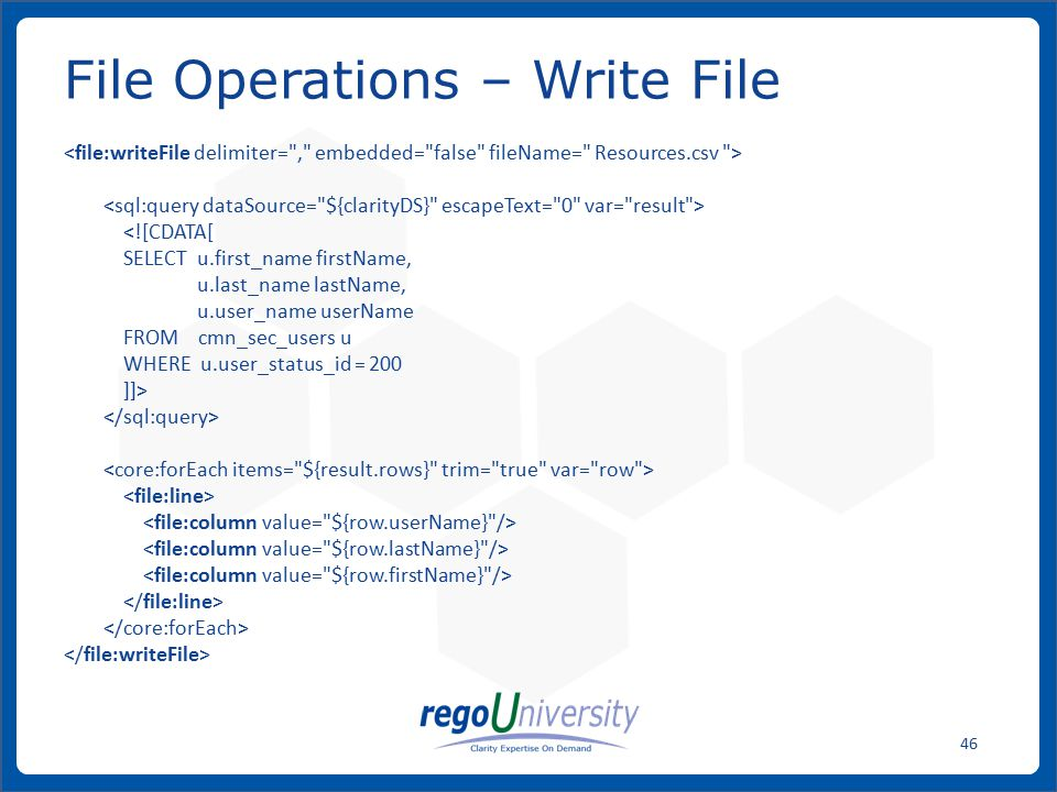 File Operations – Write File