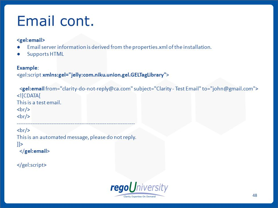 Email cont. <gel:email>