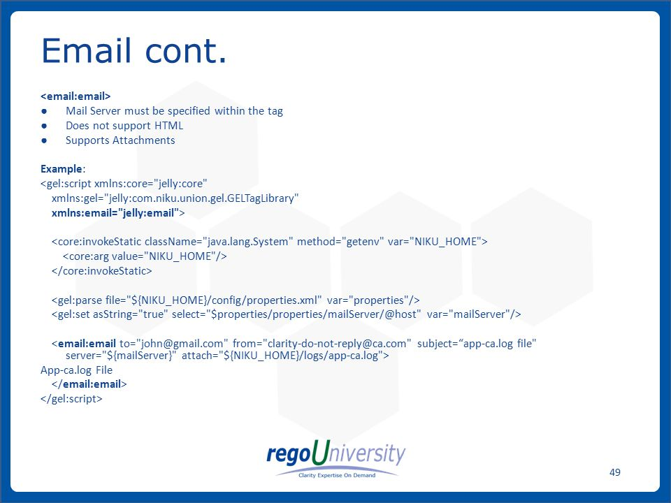 Email cont. <email:email>