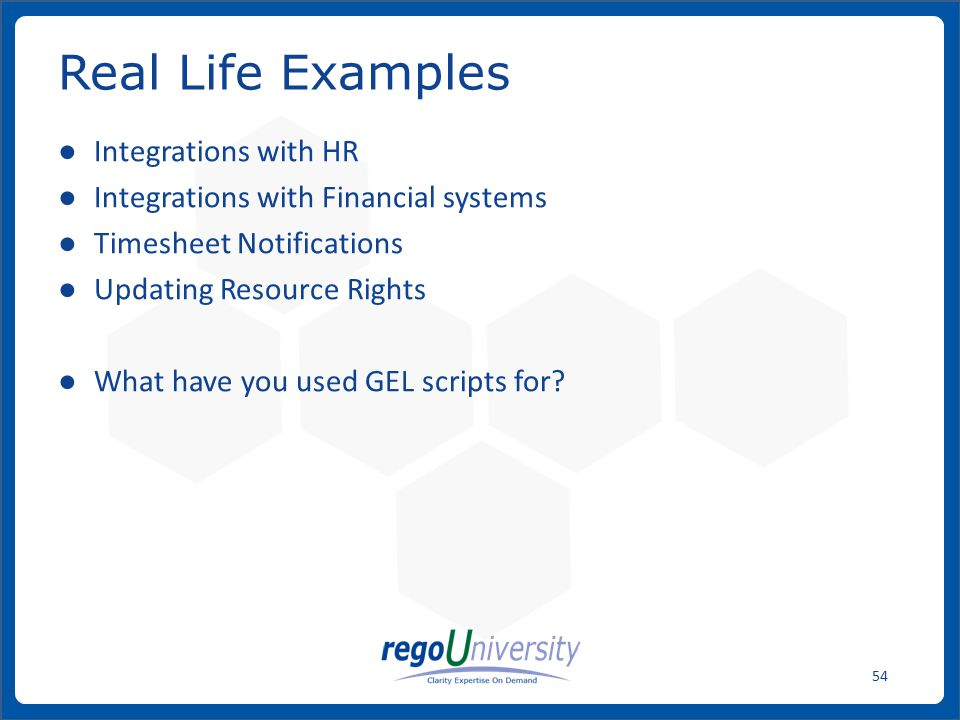 Real Life Examples Integrations with HR