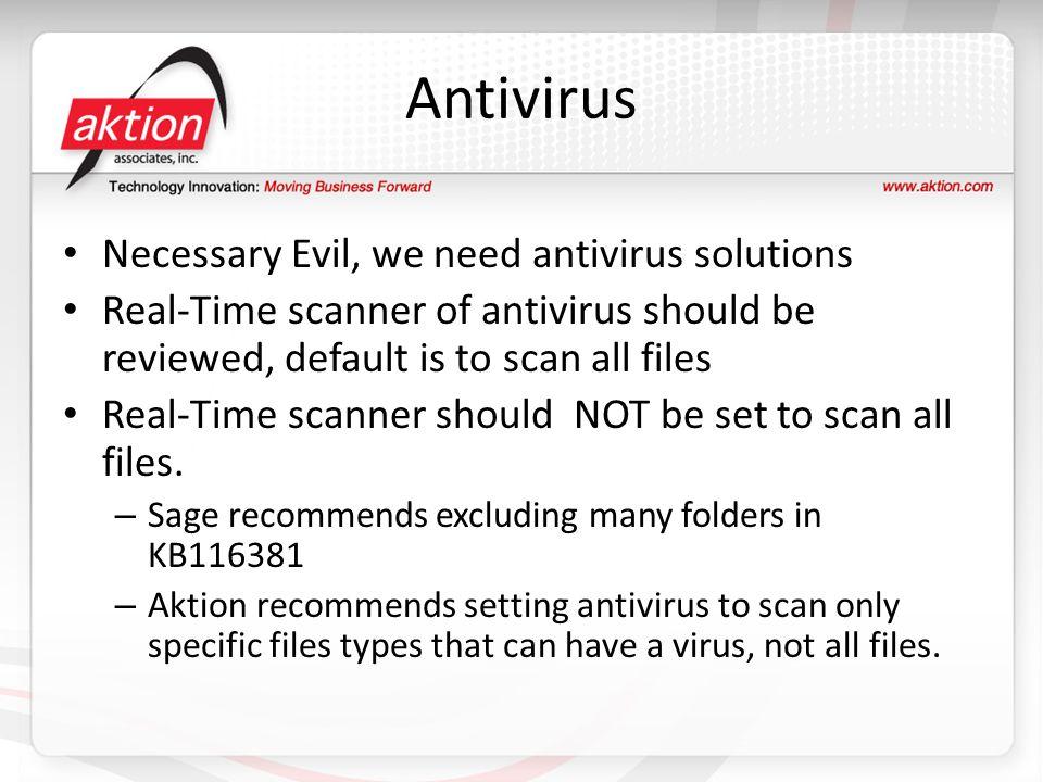 Antivirus Necessary Evil, we need antivirus solutions