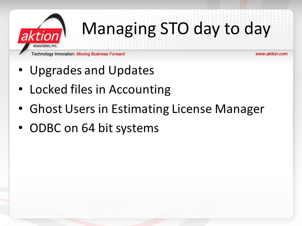 Managing STO day to day Upgrades and Updates
