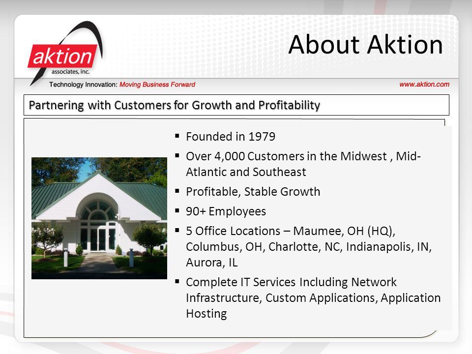 About Aktion Partnering with Customers for Growth and Profitability