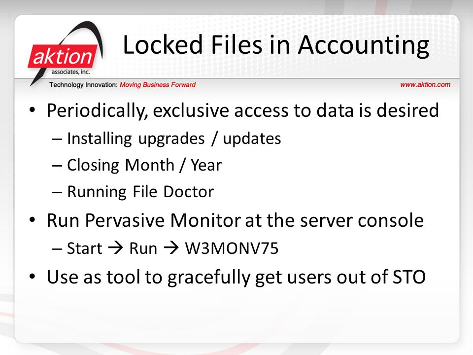 Locked Files in Accounting