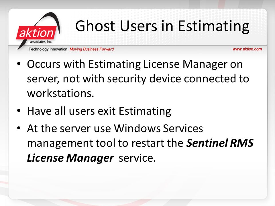 Ghost Users in Estimating
