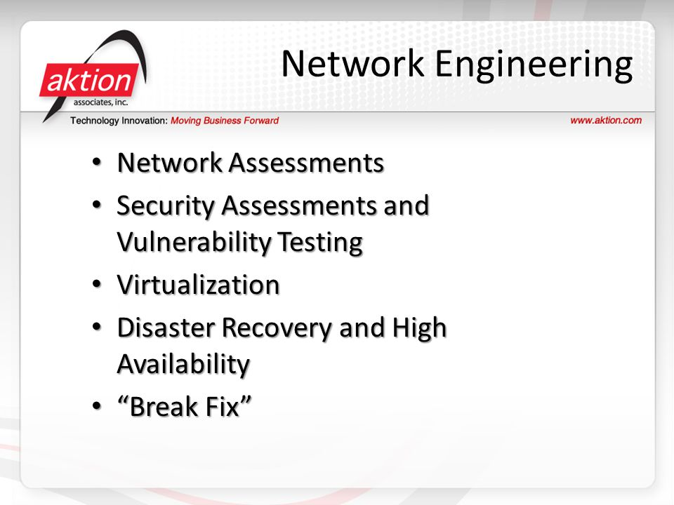 Network Engineering Network Assessments