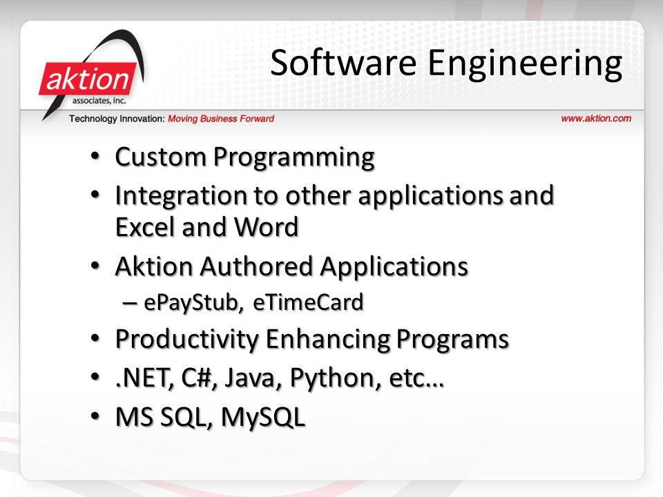 Software Engineering Custom Programming