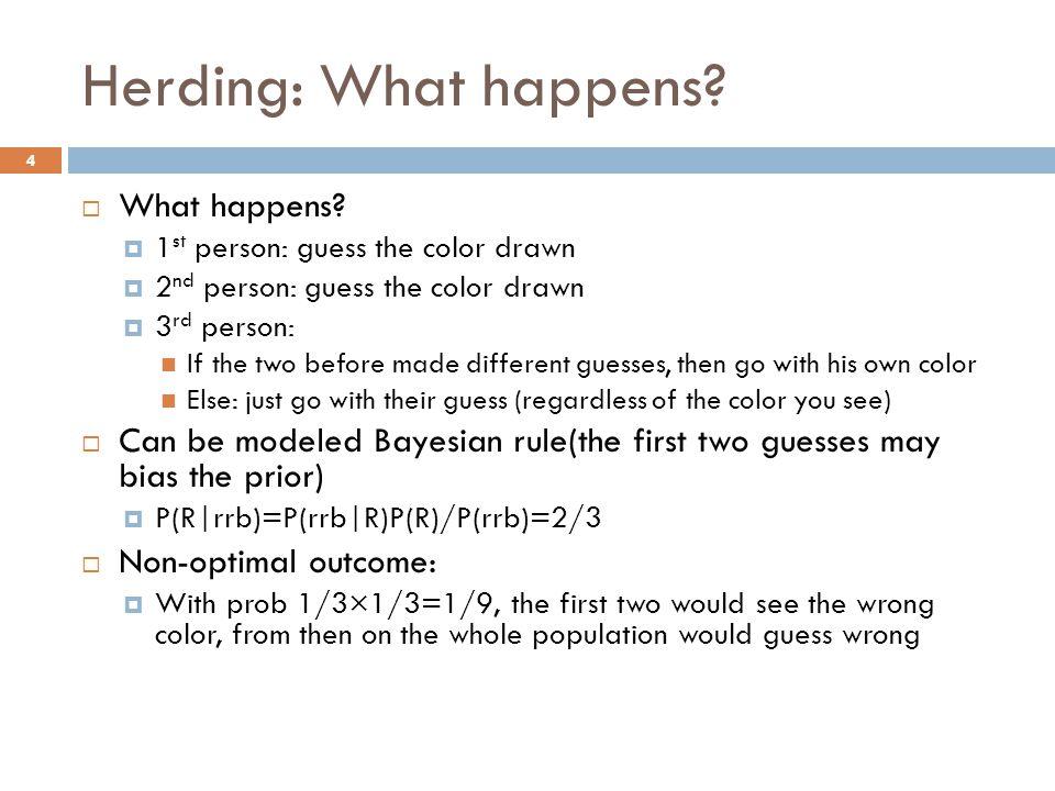 Herding: What happens What happens