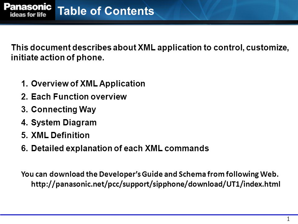 Overview of XML Application