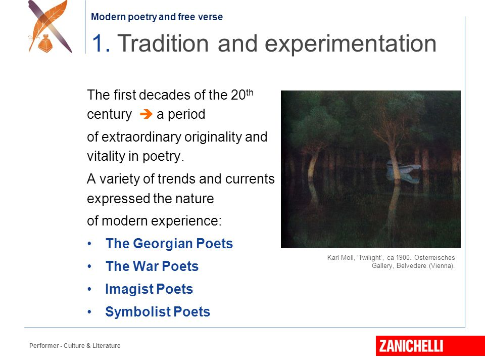 1. Tradition and experimentation