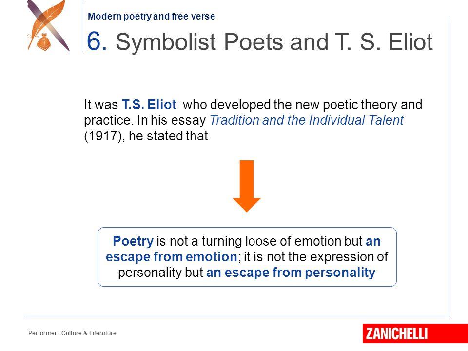 6. Symbolist Poets and T. S. Eliot