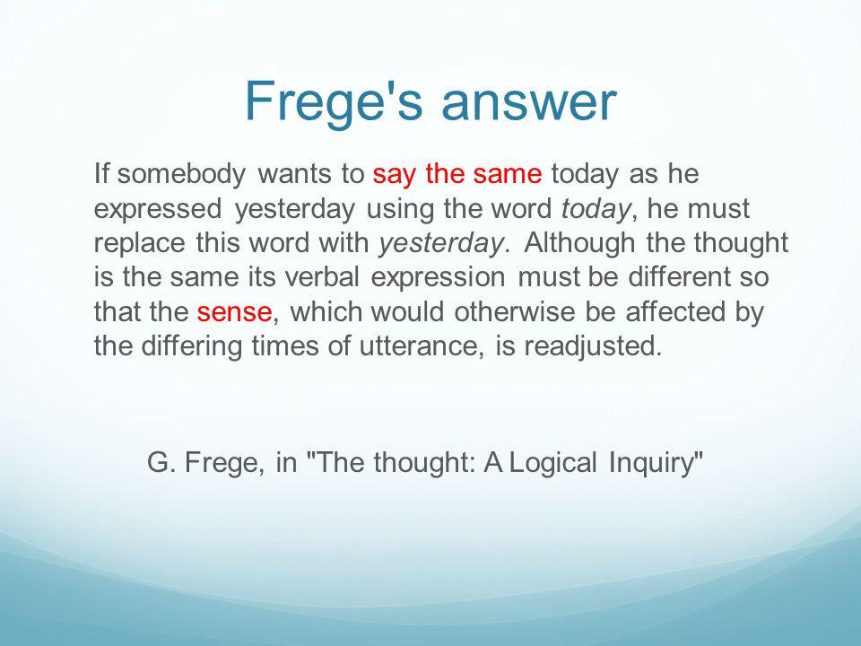 Frege s answer