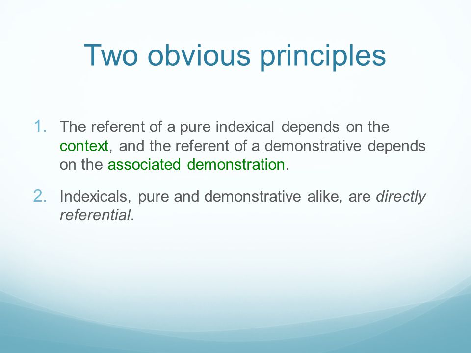 Two obvious principles