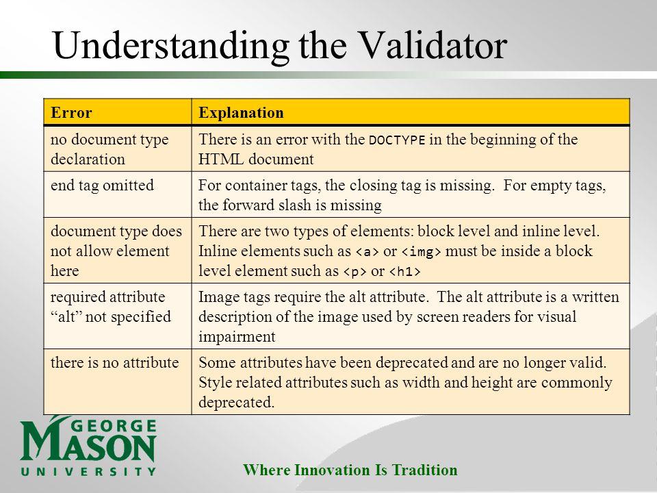 Understanding the Validator