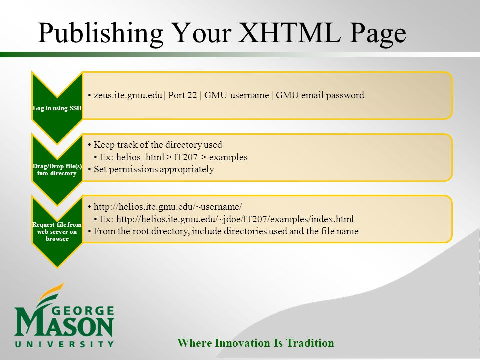 Publishing Your XHTML Page