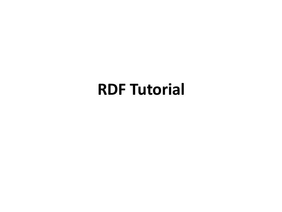 RDF Tutorial