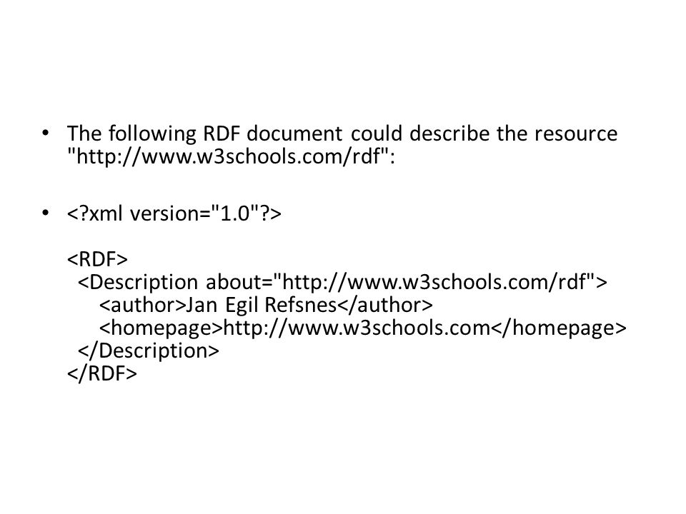 The following RDF document could describe the resource http://www