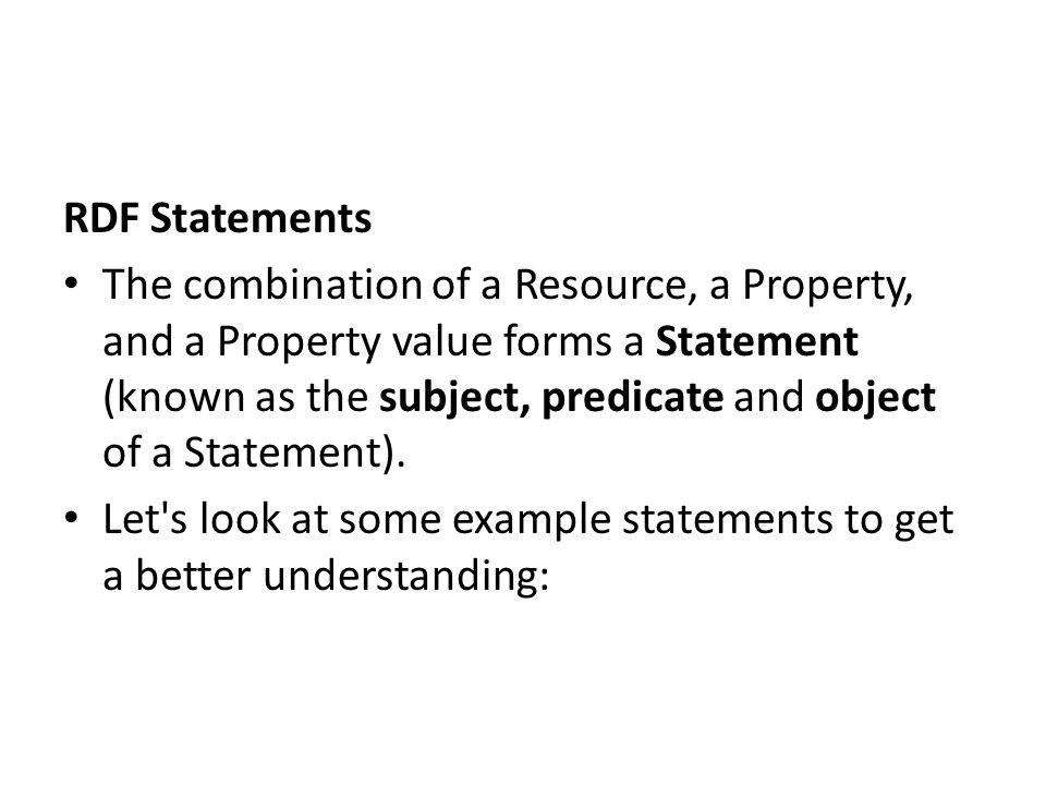 RDF Statements