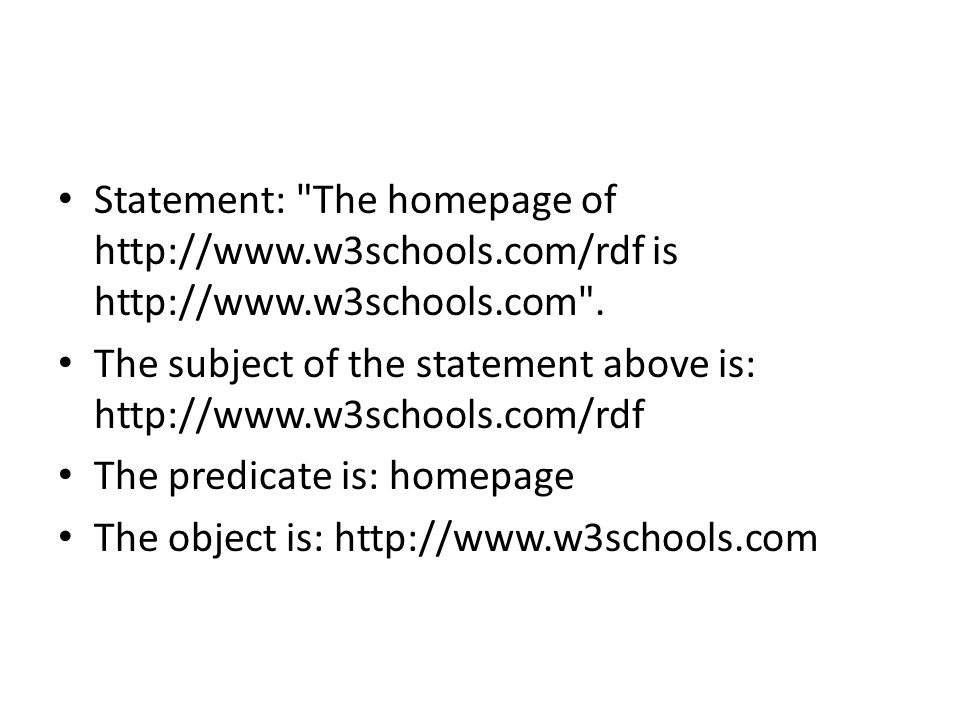 Statement: The homepage of http://www. w3schools