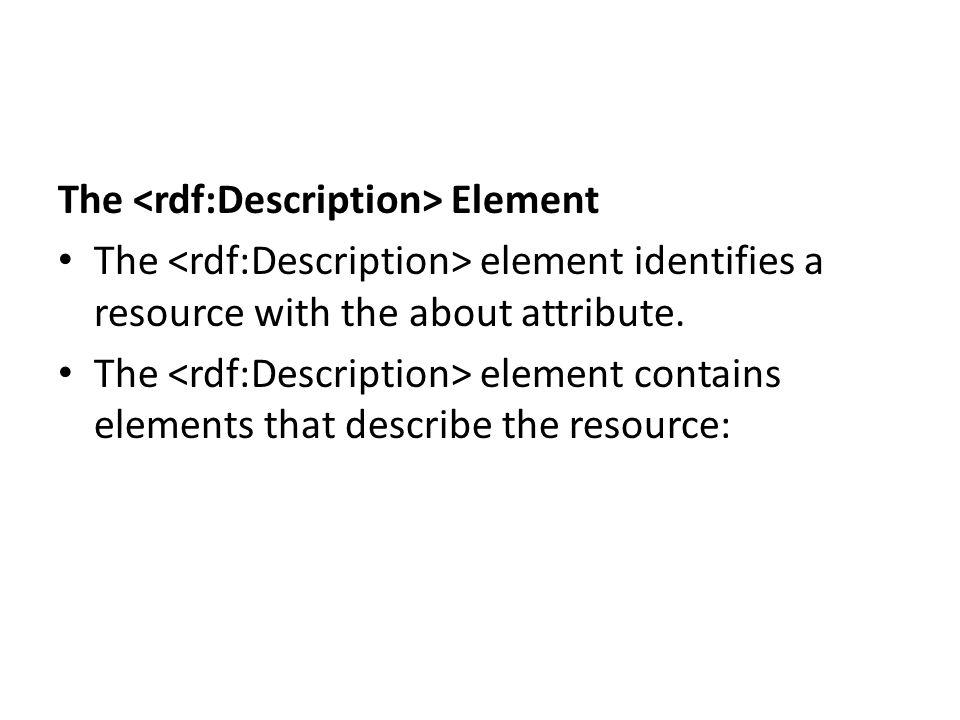 The <rdf:Description> Element