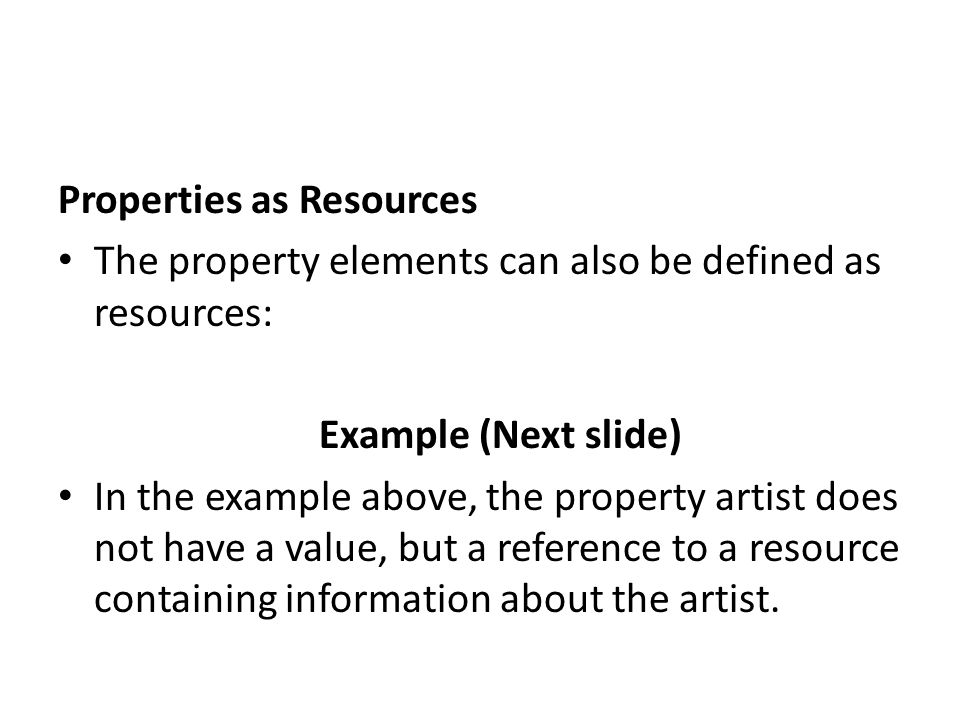 Properties as Resources