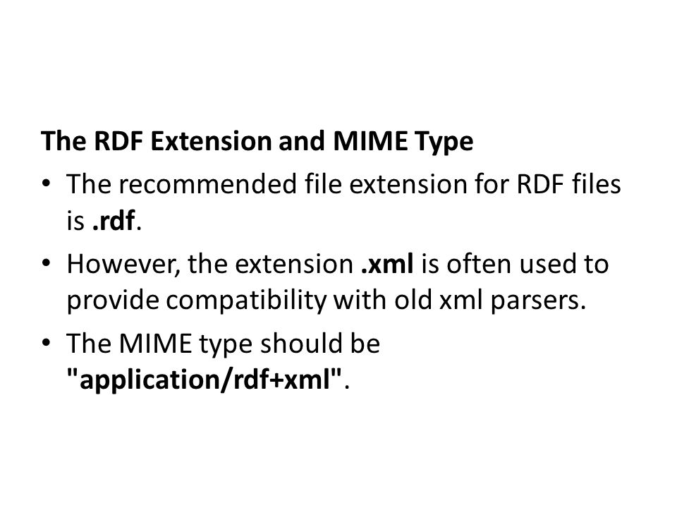 The RDF Extension and MIME Type