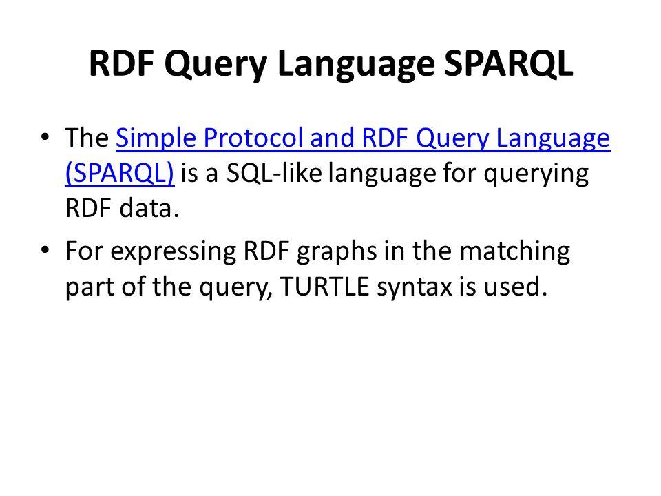 RDF Query Language SPARQL