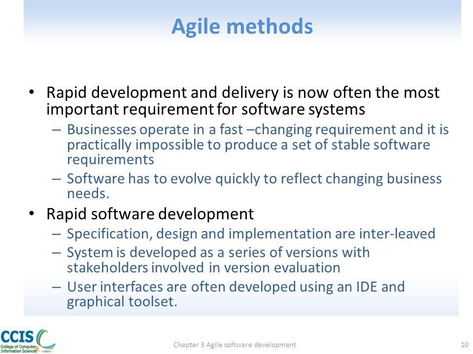 Chapter 3 Agile software development