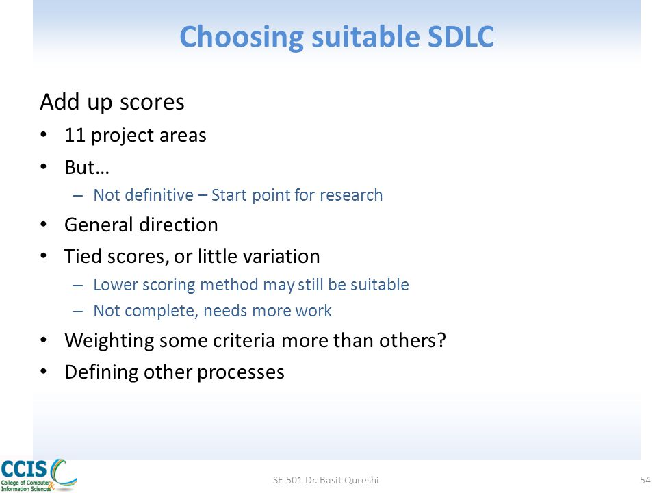 Choosing suitable SDLC