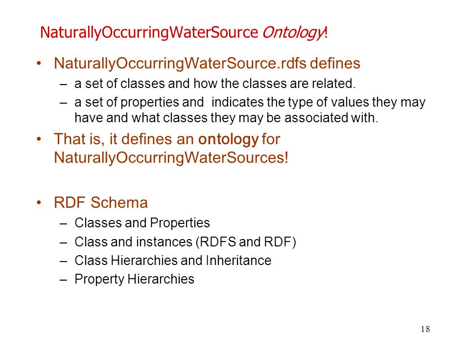 NaturallyOccurringWaterSource Ontology!