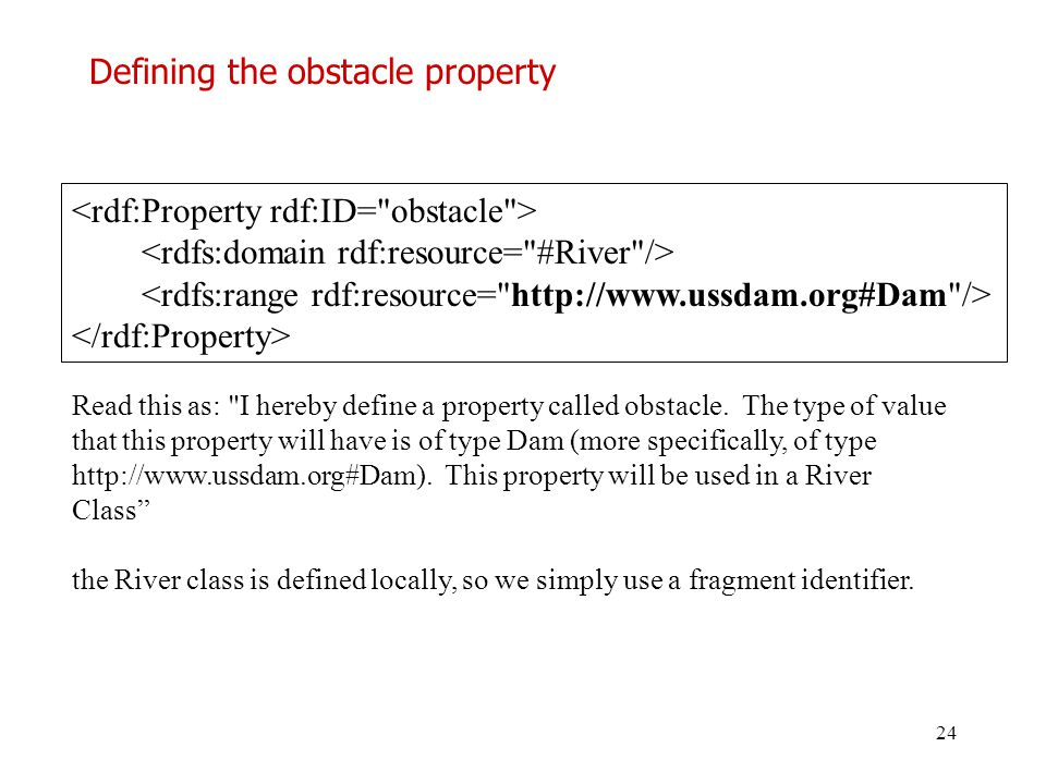 Defining the obstacle property