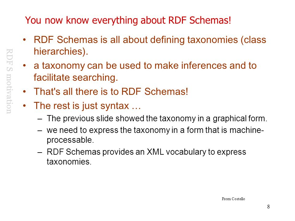 You now know everything about RDF Schemas!