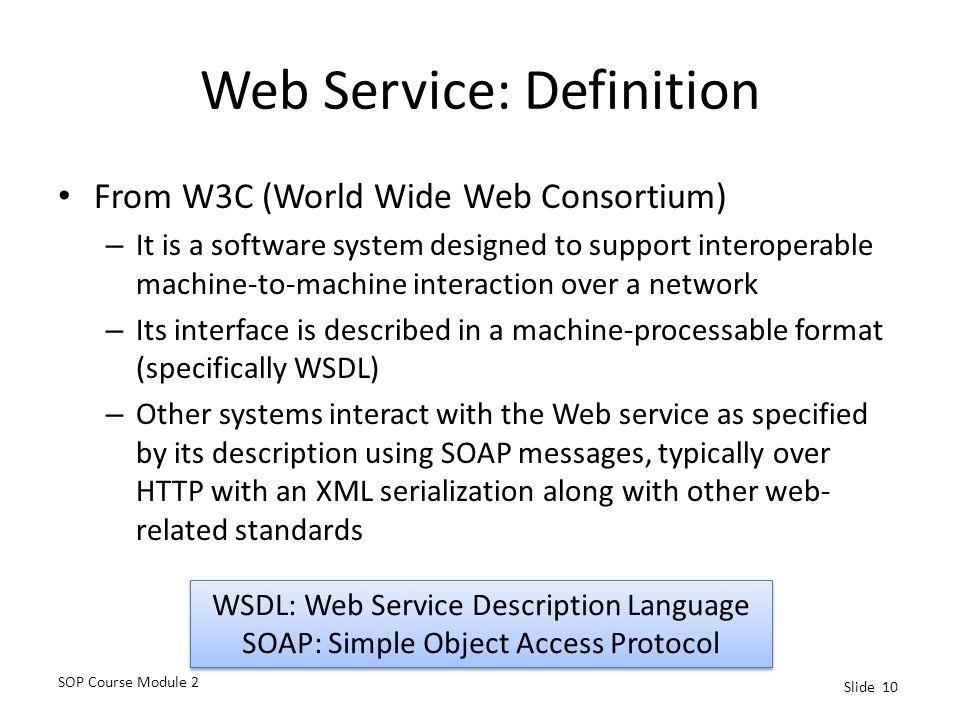 Web Service: Definition