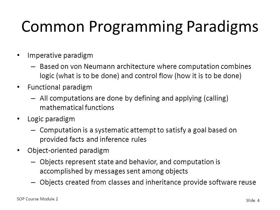 Common Programming Paradigms
