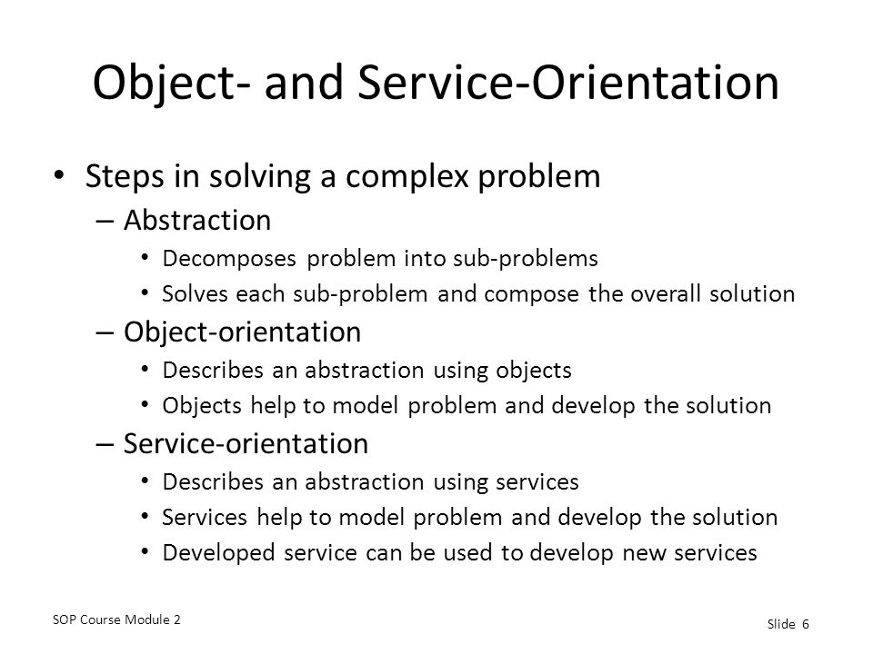 Object- and Service-Orientation