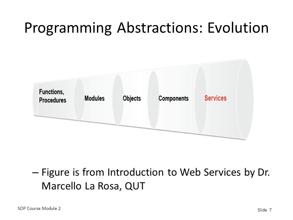 Programming Abstractions: Evolution