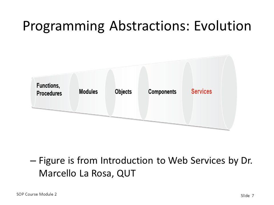 Programming Abstractions: Evolution