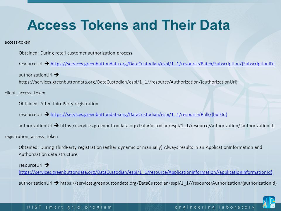 Access Tokens and Their Data