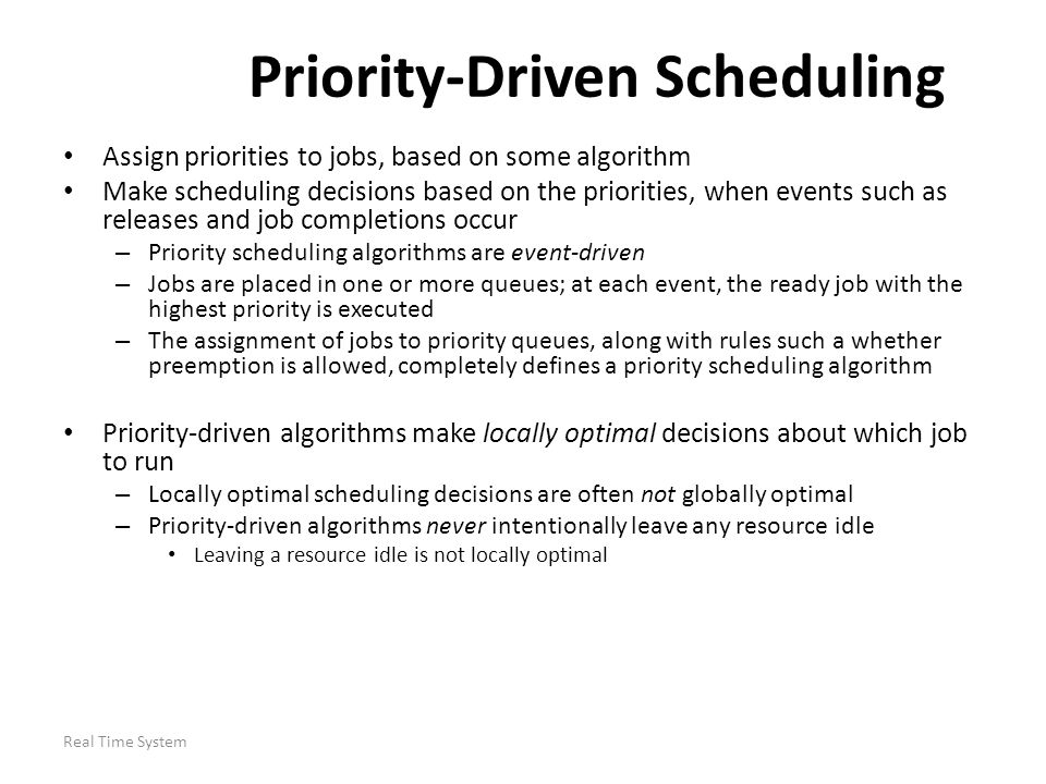 Priority-Driven Scheduling