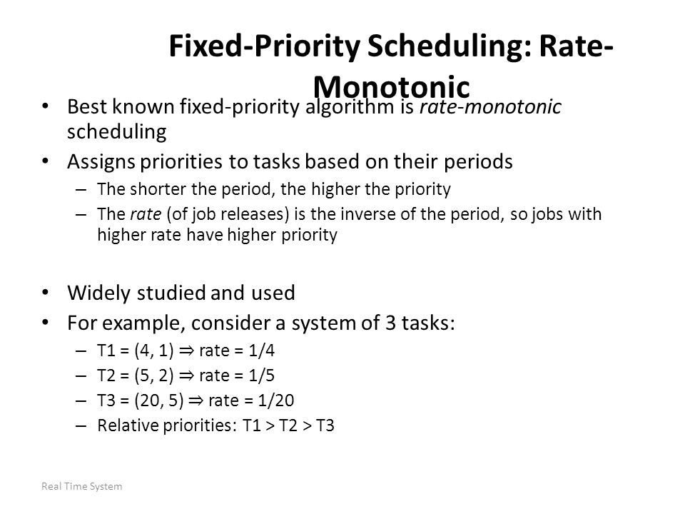 Fixed-Priority Scheduling: Rate-Monotonic