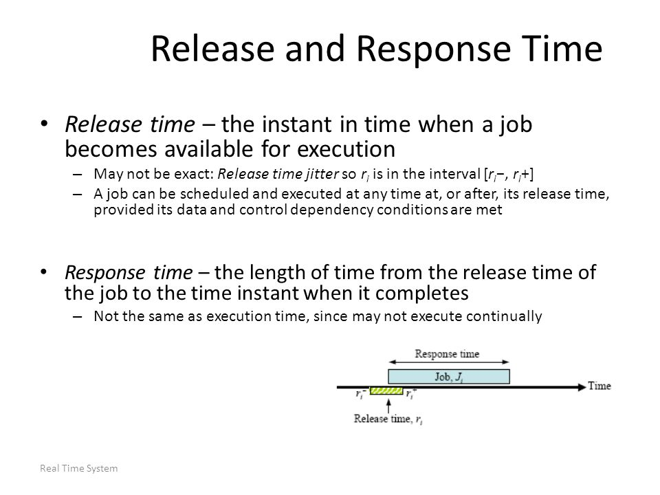 Release and Response Time