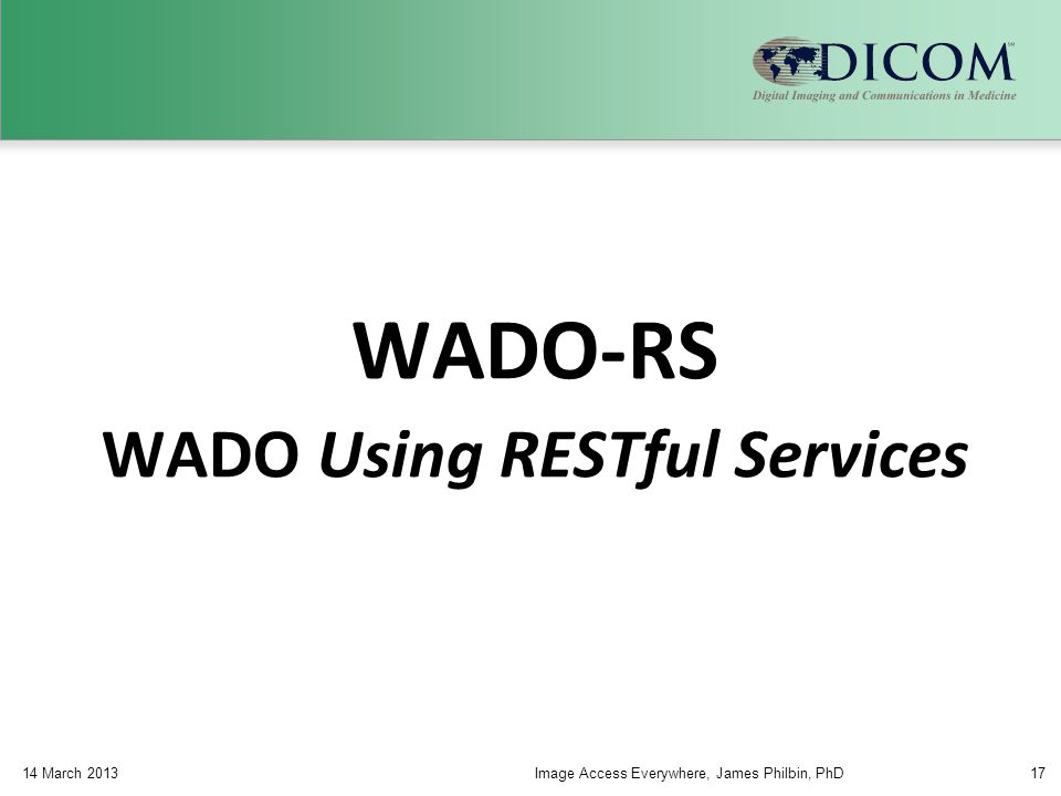 WADO Using RESTful Services