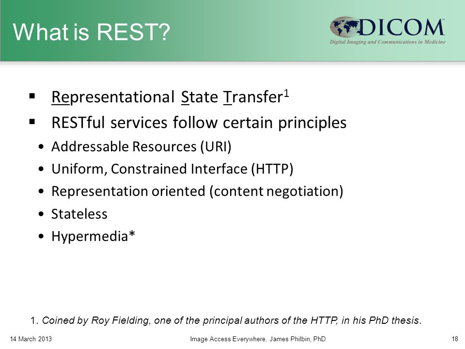 What is REST Representational State Transfer1